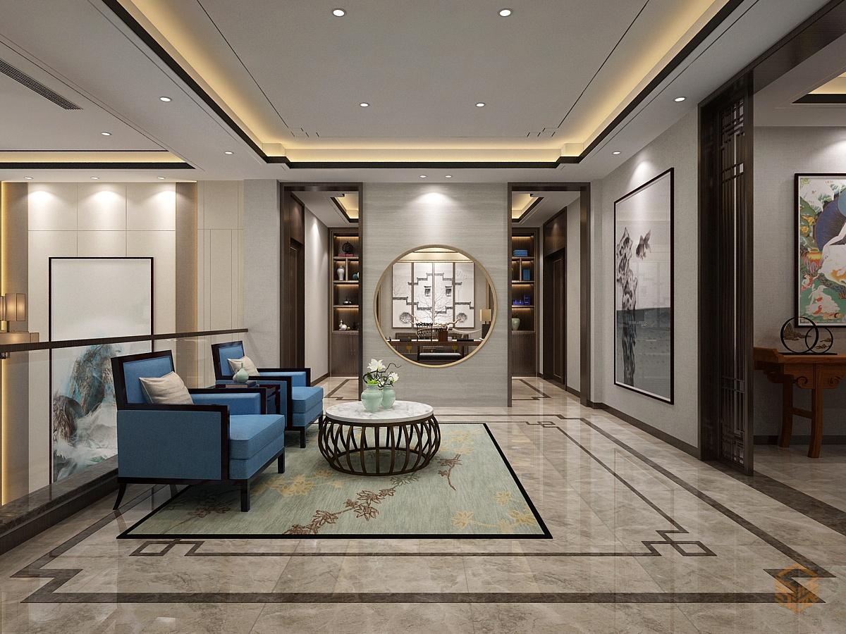 新中式别墅鉴赏-家装保姆-罗小红成都家装设计团队