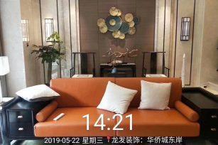 华侨城东岸 施工面积:600平米 施工风格:新中式