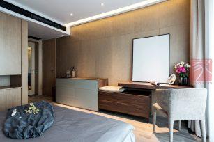 现代装修风格三居室装修实例-成都家装保姆装修网