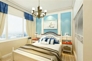 北欧风格装修效果图三居室105平方米家装案例-成都家装保姆装修网