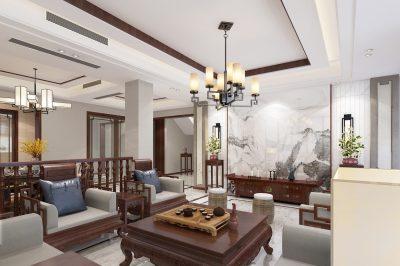 美式风格装修效果图四住宅128平方米家装案例-成都家装保姆装修网