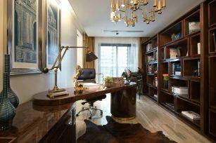 现代装修风格三居室129平方米家装案例-成都装修网