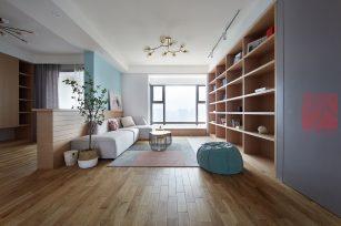 现代设计风格二居室装修实例-成都装修网