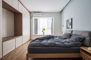 现代装修风格三居室102平家装案例