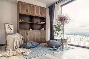 简约风格装修效果图二居室76平方米家装案例-成都家装保姆装修网