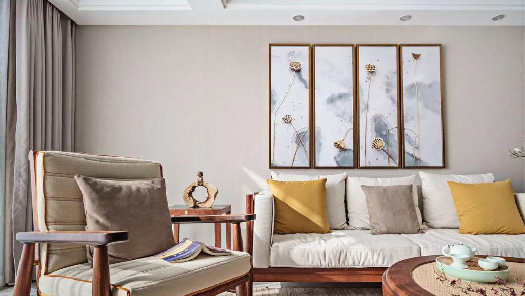2020年最新家装作品禅意新中式装修效果图欣赏(二)-家装保姆-罗小红成都家装设计团队