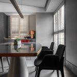2020年后现代黑白灰极简实景图效果图3-家装保姆-罗小红成都家装设计团队