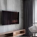 2020年后现代黑白灰极简实景图效果图7-家装保姆-罗小红成都家装设计团队