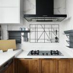 2020年后现代黑白灰极简实景图效果图8-家装保姆-罗小红成都家装设计团队