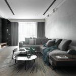 2020年后现代黑白灰极简实景图效果图15-家装保姆-罗小红成都家装设计团队