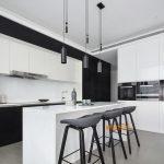 2020年后现代黑白灰极简实景图效果图33-家装保姆-罗小红成都家装设计团队