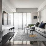 2020年后现代黑白灰极简实景图效果图36-家装保姆-罗小红成都家装设计团队