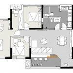 2020年后现代黑白灰极简实景图效果图50-家装保姆-罗小红成都家装设计团队
