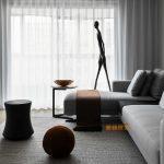 2020年后现代黑白灰极简实景图效果图56-家装保姆-罗小红成都家装设计团队